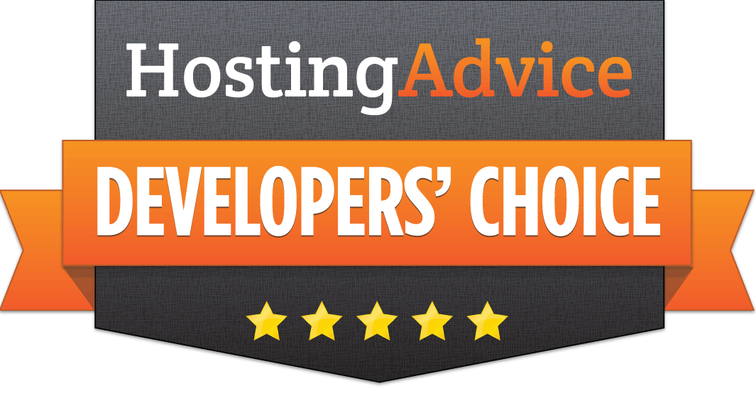 HostingAdvice Developers' Choice badge for Time4VPS